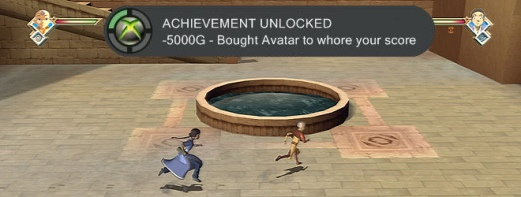 The faux achievement speaks for itself: Avatar is infamously an achievement whore.
